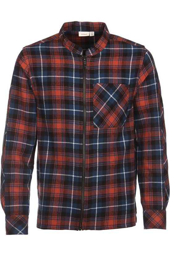 Name It Shirt okse Ls dark blue/rust
