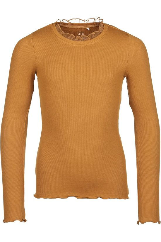 Name It T-Shirt ofobia Ls Slim bronze