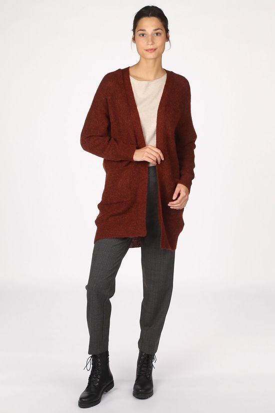 Selected Cardigan lulu Ls Nos Roest