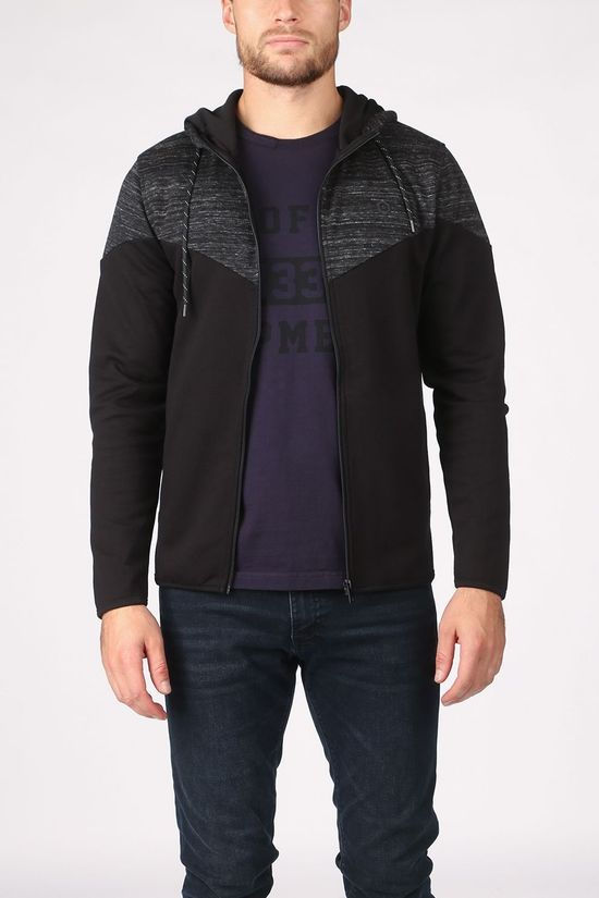 Jack & Jones Cardigan bang Sweat Ziphood Zwart