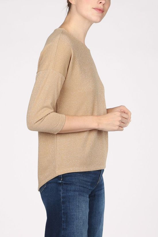 Vero Moda T-Shirt  Fern ¾ Wide Top Jrs Sand Brown