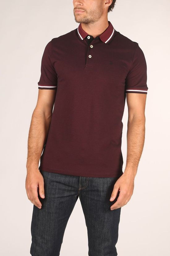 Jack & Jones Polo Paulos Bordeaux / Maroon