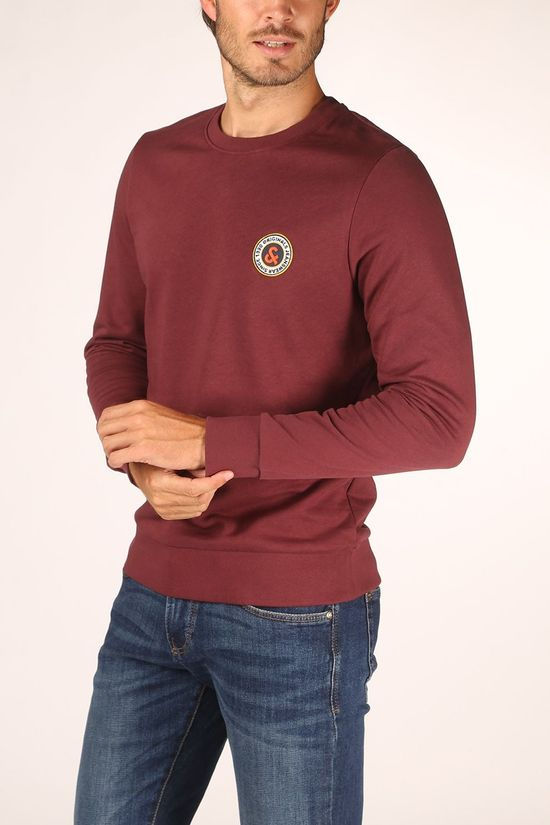 Jack & Jones Pullover orhansa Sweat Cn Bordeaux / Maroon