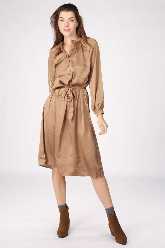 Selected Dress harmony Ls Short B Camel Brown