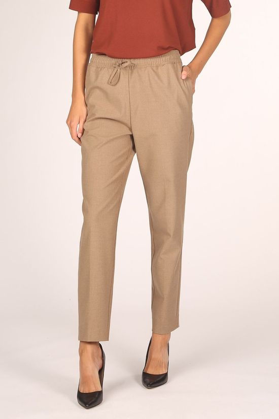 Selected Trousers julie Mw Comfort Straight Te B Camel Brown