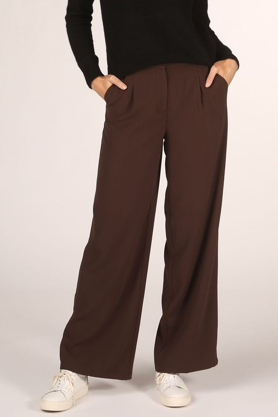 Selected Broek tini Mw Wide B Donkerbruin