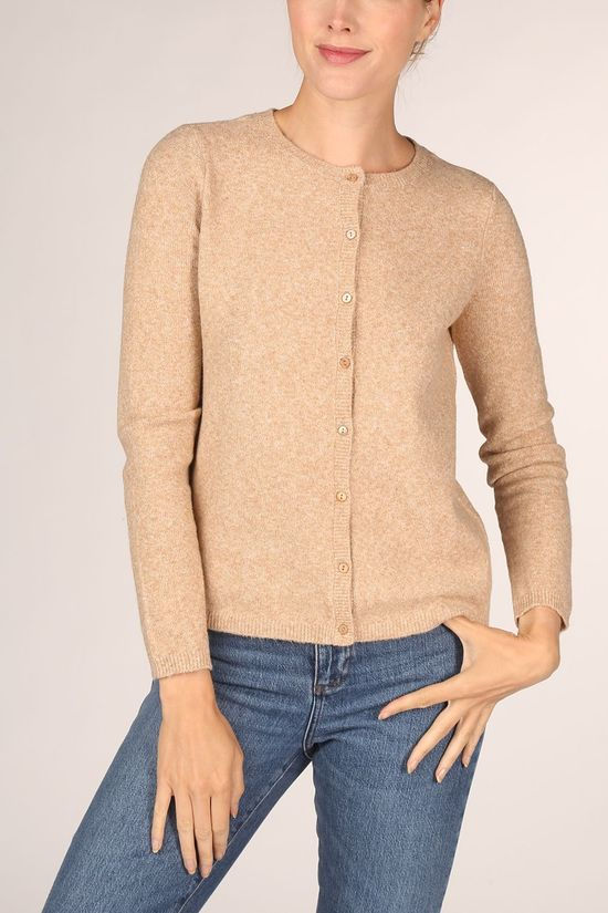 Vero Moda Cardigan doffy Ls Short Button Sand Brown