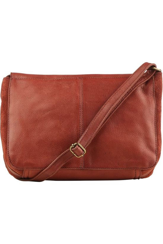 Pieces Bag svalle Leather Cross Body mid brown