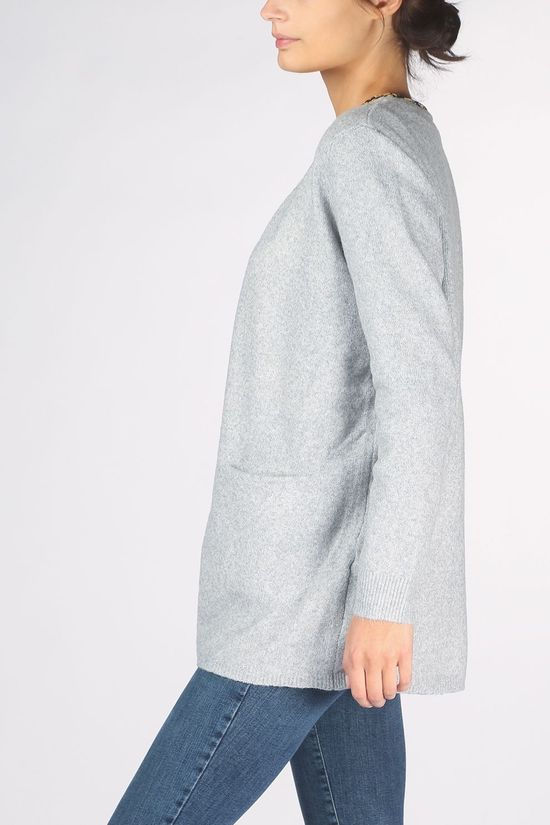 Vero Moda Cardigan doffy Ls Short Open Ga Noos Light Grey Marle