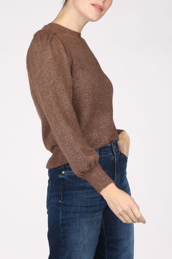 Vero Moda Pullover maja Ls O-Neck Knit Vma dark brown