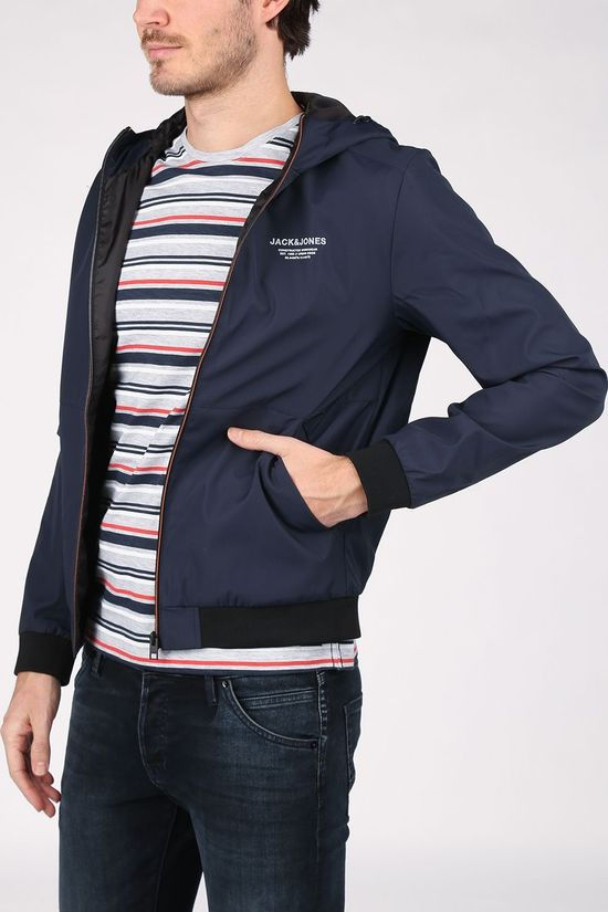 Jack & Jones Coat Jjeseam Jkt Hd dark blue