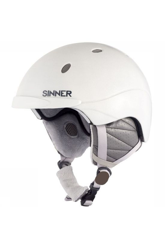 Sinner Ski Helmet Titan white/light grey