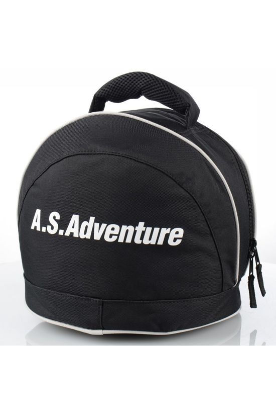A.S.Adventure Sac de Ski Casque AS Logo Noir/Blanc