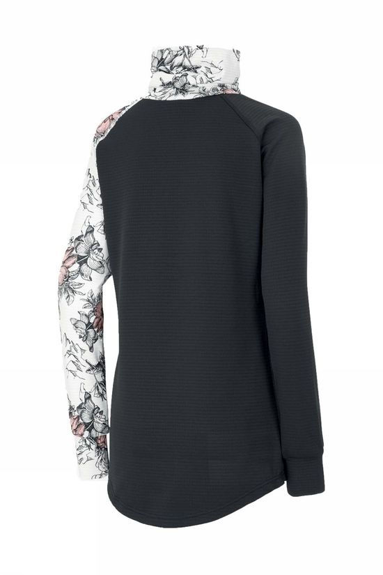 Picture Organic Clothing Polaire Blossom Grid Fleece Noir/Ass. Fleur
