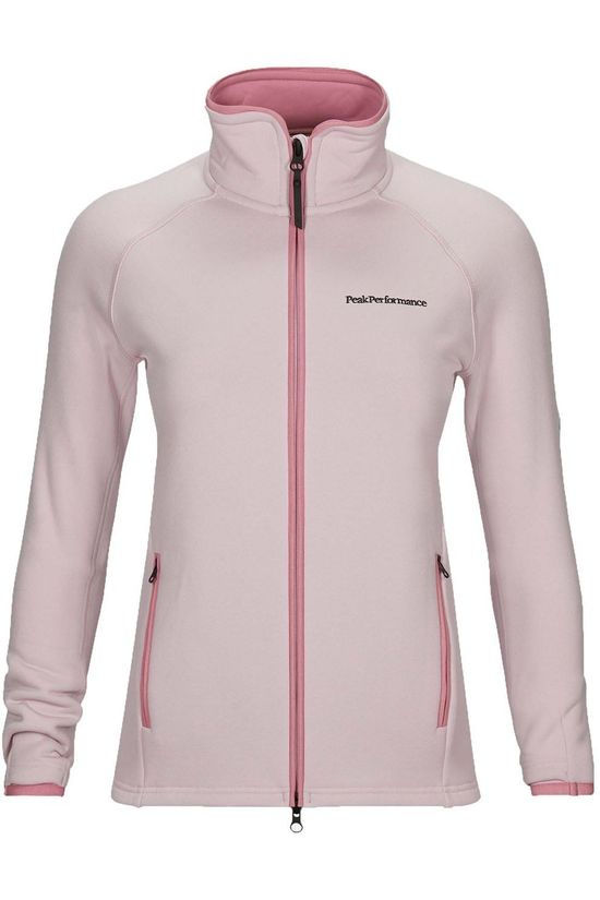 Peak Performance Fleece W Chill Zip Lichtroze