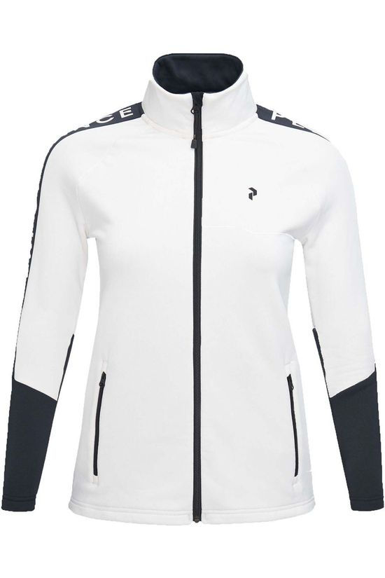 Peak Performance Polaire W Rider Zip Jacket Blanc Cassé/Noir