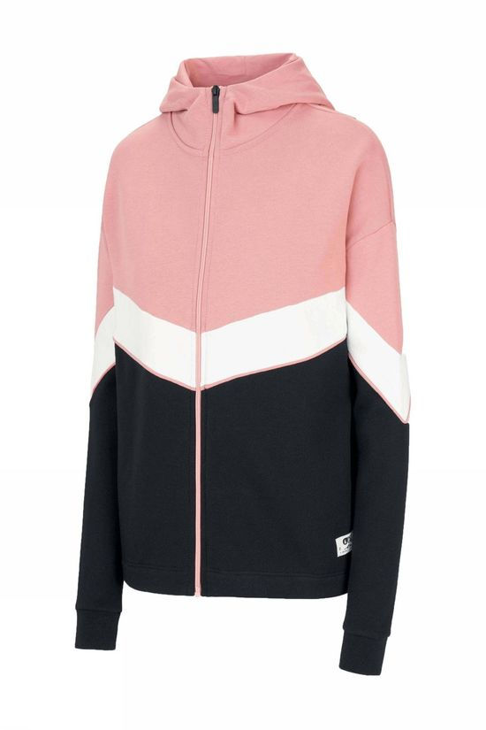 Picture Organic Clothing Fleece Lia Zip Hoodie Middenroze/Zwart