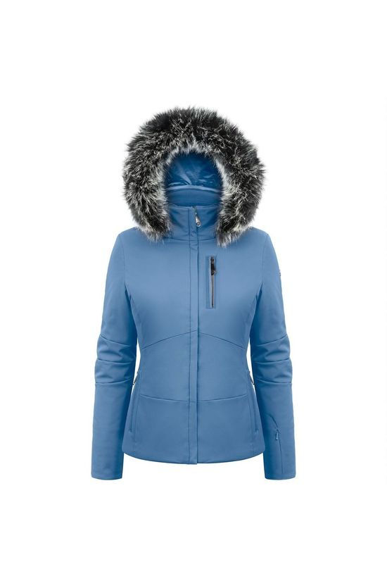 Poivre Blanc Coat Stretch Ski Active Line mid blue
