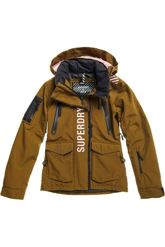 Superdry Jas Ultimate Rescue Middenkaki/Lichtroze