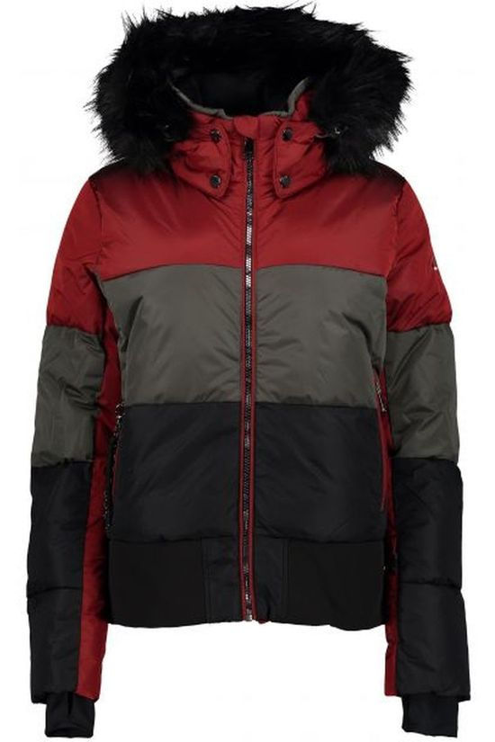 Luhta Coat Ekholm Jacket red/black