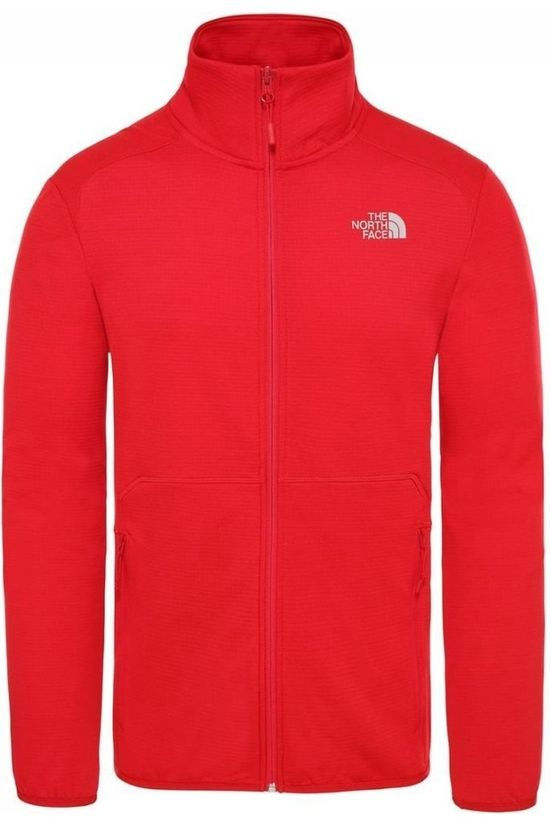 The North Face Fleece Quest Fz Rood