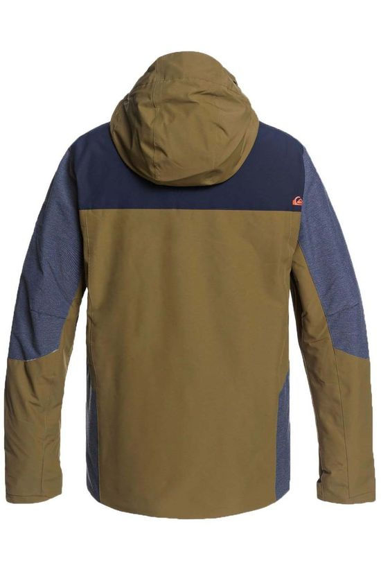 Quiksilver Coat Mission Plus Jacket mid khaki/dark blue