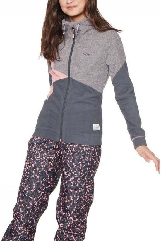 Protest Fleece Smorre Jr Light Pink/Dark Grey Marle