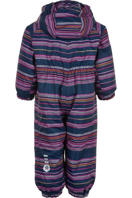 Color Kids Skipak Coverall Aop-Stribe, Af 10.000 Blauw/Assorti / Gemengd