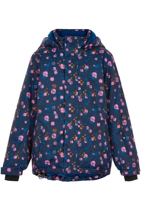 Color Kids Manteau Ski Aop, Af 10.000 Bleu Moyen/Rose Moyen