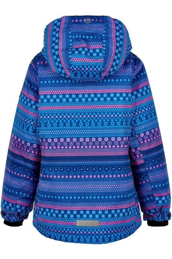 Color Kids Coat Ski Aop, Af 10.000 DARK BLUE