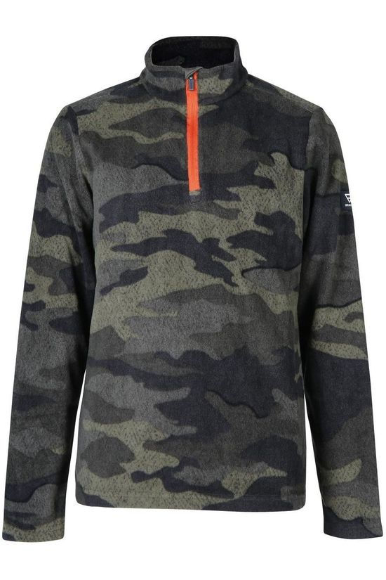 Brunotti Fleece Stewart-Jr Middenkaki/Ass. Camouflage