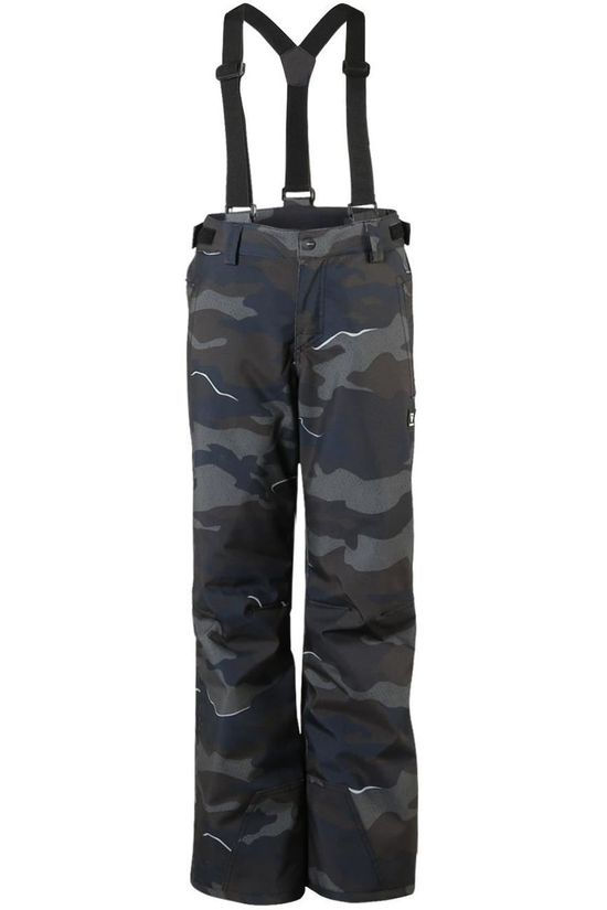 Brunotti Ski Pants Footstrap-Ao-Jr Boys Dark Grey/Ass. Camouflage