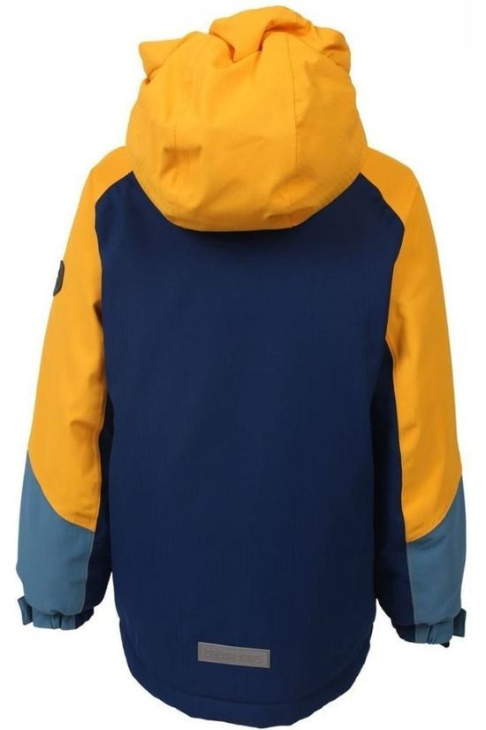 Color Kids Manteau Salwan Bleu Moyen/Jaune