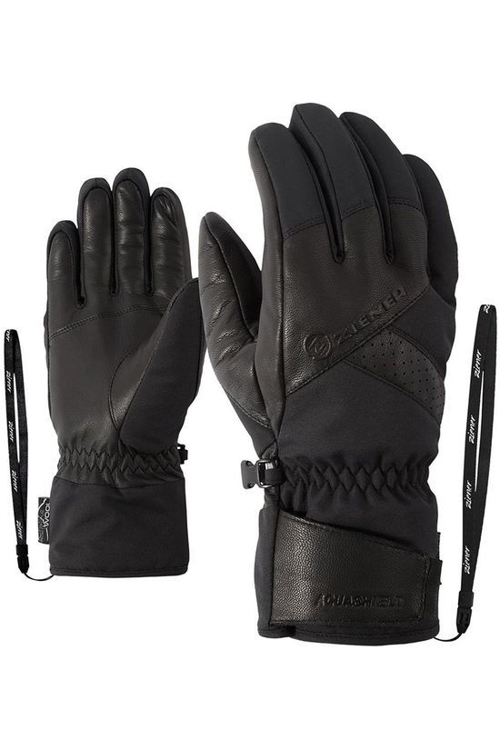 Ziener Handschoen Getter As Alpine Wool Glove Zwart