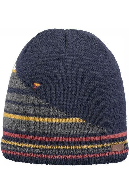Barts Bonnet Junter Navy Blue/Red