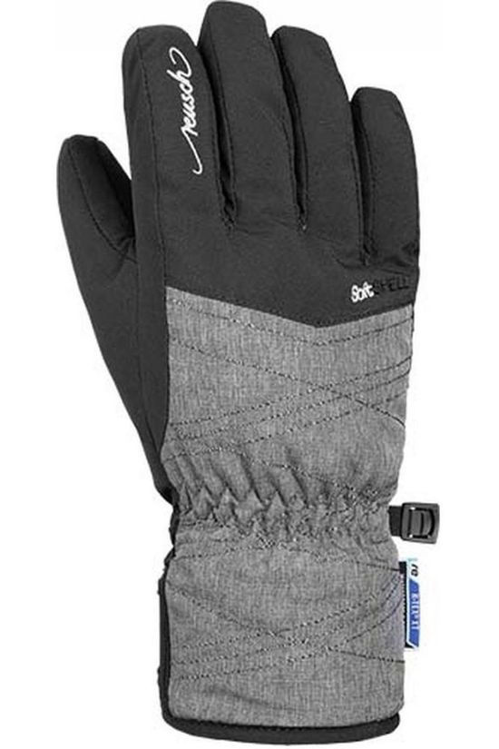 Reusch Glove Aimée R-Tex XT Junior Dark Grey Marle/Black