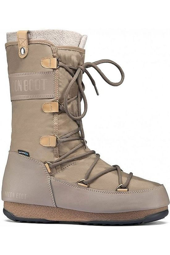 Moon Boot Botte Apres-Ski Monaco Felt Brun Sable