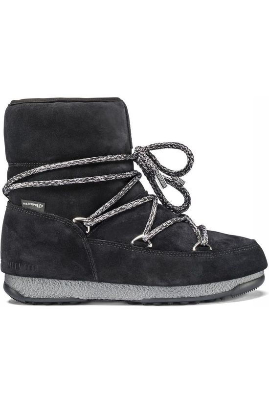 Moon Boot Botte Après-Ski West East Low Suede Noir