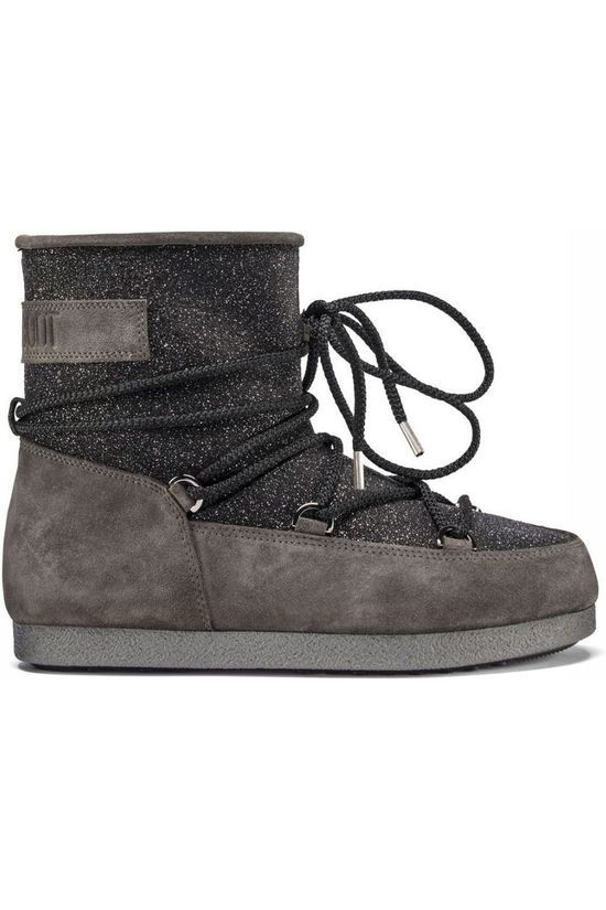 Moon Boot Après-Ski Laars Far Side Low Suede Glitter Zwart