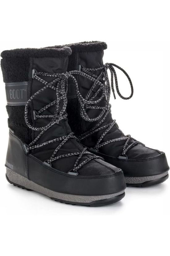 Moon Boot Botte Après-Ski Monaco Wool Mid WP Noir
