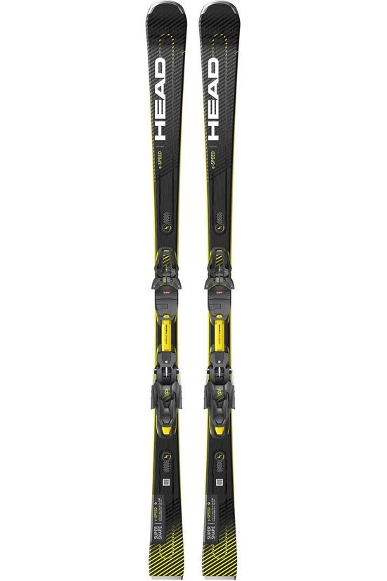 Head Ski Supershape E.Speed - Prd 12 Gw Noir/Jaune Foncé