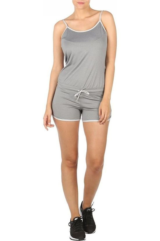 Casall Trousers Beach Jumpsuit Dark Grey Marle
