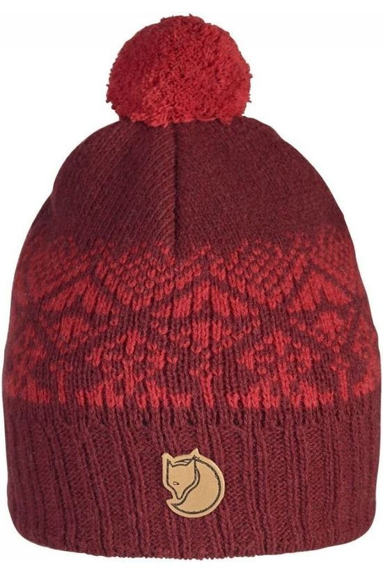 Fjällräven Bonnet Snowball dark red
