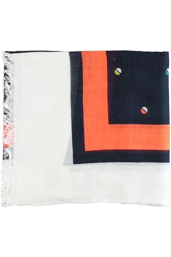 Marc O'Polo Scarf 002 8195 02343 Navy Blue/Orange