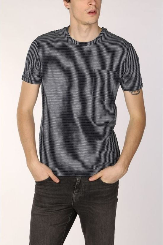 Marc O'Polo T-Shirt 023214051212 Donkerblauw/Wit