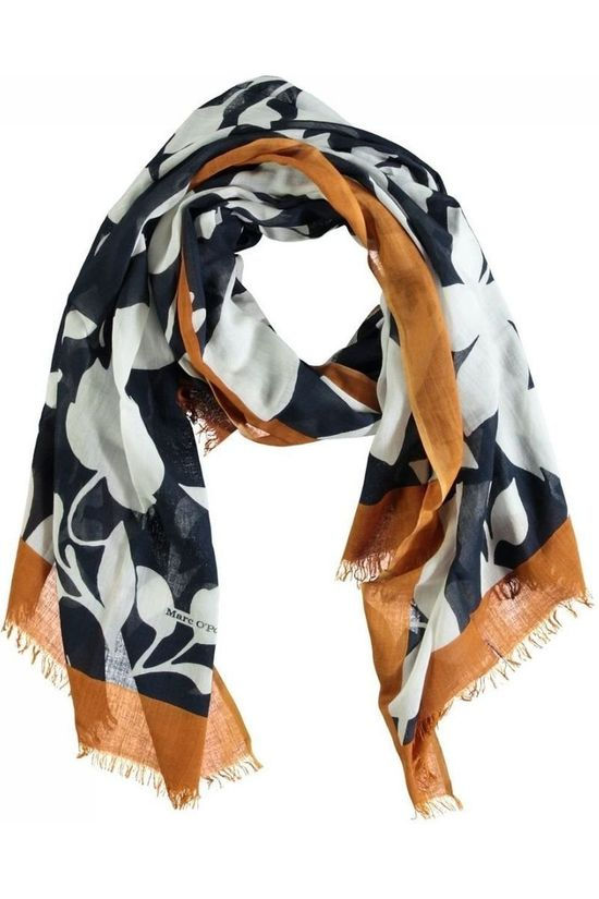 Marc O'Polo Scarf M01 8195 02343 Navy Blue/Ass. Flower