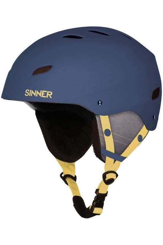 Sinner Ski Helmet Bingham dark blue/dark yellow