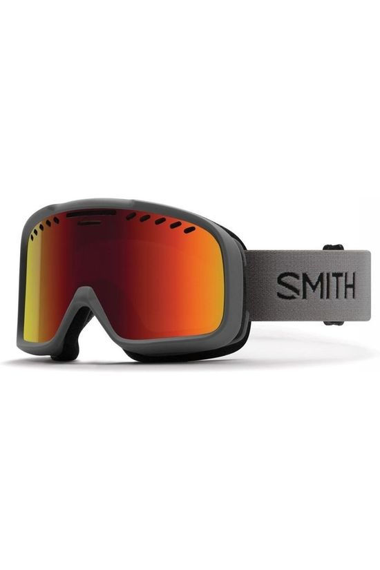 Smith Ski Goggles Project mid grey/red