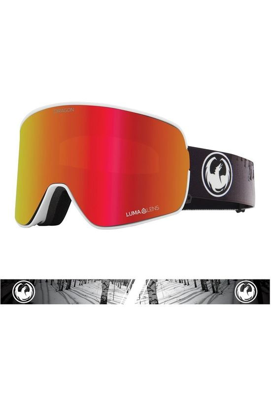 Dragon Ski Goggles Nfx2 white/red