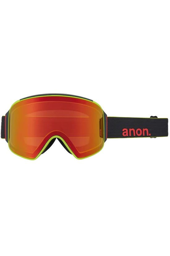 Anon Lunettes De Ski M4 Cyclindrical Mfi With Spare Noir/Rouge